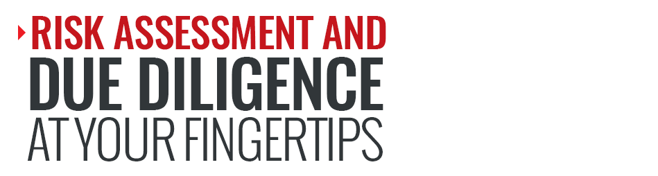 Risk assessment and due diligence at your fingertips for real estate agents